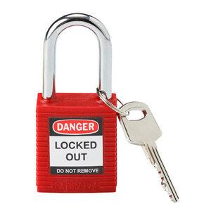 Brady 99552 Red Safety Lockout Padlock