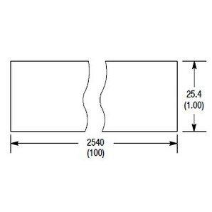 "Allen-Bradley 92-99 Reflective Tape, 25 x 2540 mm, (1 x 100""), Glass Bead"