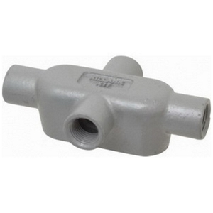 "OZ Gedney X27 Conduit Body, Type: X, 3/4"", Form 7, Malleable Iron"