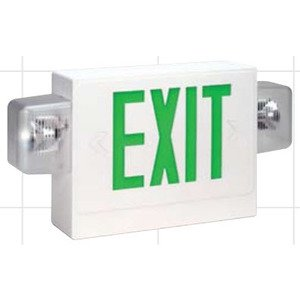 Bizline FX3GWEC Combo Exit Sign, LED, Green Letters