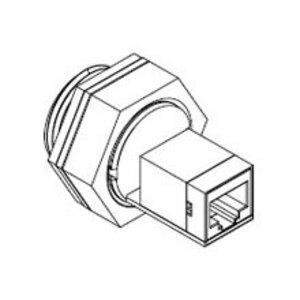 Woodhead 1300550001 Modular Plug, Pass Through, RJ45 Female Receptacle, Shielded, IP67