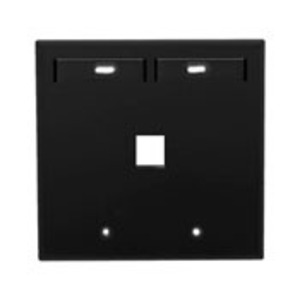 Leviton 42080-1EP Quickport 2G Wallplate with ID Windows