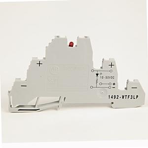 Allen-Bradley 1492-WTF3LP Terminal Block, 3 Circuit, 10A, 300V AC/DC, Gray, 2.5mm, for PNP Device