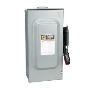 Square D HU362RB Disconnect Switch, Non-Fusible, NEMA 3R, 60A, 3P, 600VAC, Heavy Duty