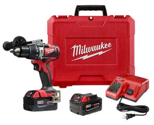 "Milwaukee 2902-22 M18 1/2"" Brushless Hammer Drill Kit"