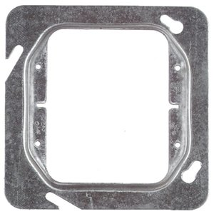 """Steel City 72-C-17 4-11/16"""" Square Cover, 2-Device, Mud Ring, 1/2"""" Raised, Drawn"""