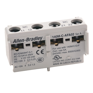 Allen-Bradley 140M-C-AFA11 Breaker, Motor Protection, Auxiliary Contact, Front Mount, 1NO/NC