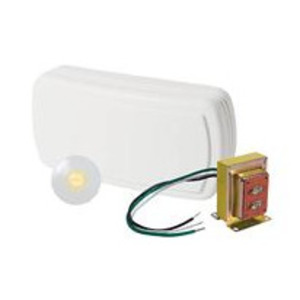 Nutone BK131LWH Wired Chime Kit, (1) Pushbutton, (2) Note Chime, Surface Mount, White