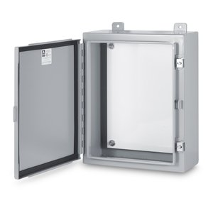 "Austin Electrical Enclosures AB-24168NFX003 Enclosure, NEMA 12, Single Door, 24"" x 16"" x 8"", Steel"