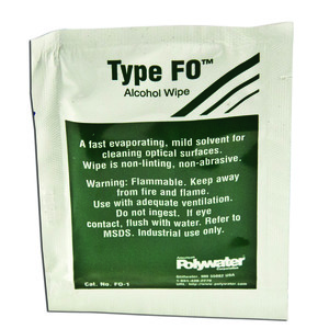 American Polywater FO-1 Type FO 99.8% Alcohol Cleaner, Saturated Wipe
