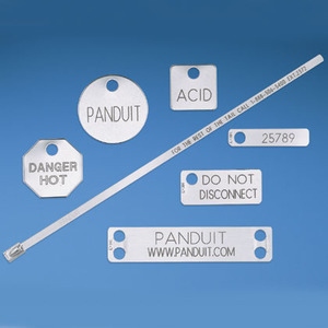 Panduit MT350W17-Q-M Marker tag, one hole, 304 Stainless Stee