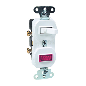 Pass & Seymour 692-W Switch/Pilot Light Combo, 15A, White