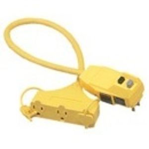 Southwire 14880023-6 GFCI Adapter Tritap Outlet 3 Way GFCI, 2'