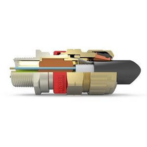 """Hawke 753/A/3/4""""NPT Cable Gland, Explosionproof, Size """"A"""", 3/4"""" NPT, Brass"""
