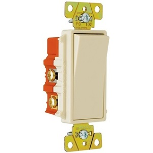 Pass & Seymour 2624-I 4-Way Decora Switch, 20A, 120/277VAC, Ivory