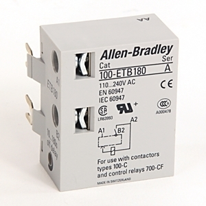 Allen-Bradley 100-ETB180 Contactor, IEC, Timing Module, Off-Delay, Electronic, 10 - 180 Second