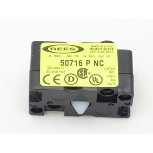 Rees 50716-000 CONTACT BLOCK REES 14/2 AWG STRD 0 TO +55 DEG C OPERATING OLD CATALOG NO: 40716