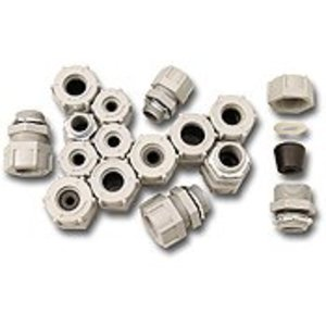 Stahlin 5123 Nylon cord grip, 1/2? hub, .312-.375 cable range