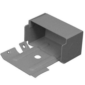 Wiremold G3010AE Raceway Entrance End Fitting, 3000 Series, Steel, Gray