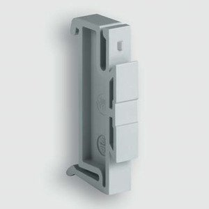 Lutze 700499 Mounting Adaptor, Type 2 Socket, Gray, #700499