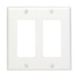 80409W WALL PLATE WHT PLASTIC DECORA 2G