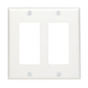 80409-W WHITE 2G DECORA PLATE