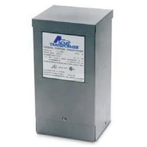 Acme T253010S Transformer, 1KVA, 1P, 240/480V, 120/240V, Isolation