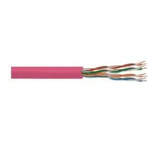 Commscope 874030814/10 Category 5e Cable, Plenum, 24 AWG, 4-Pair, 350MHz, Pink, 1000'
