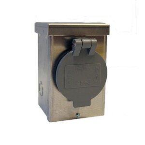 Generac 1430V Inlet Box, 30A, 120/240VAC, NEMA L14-30P, Steel, NEMA 3R, Flip Lid