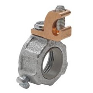 """Cooper Crouse-Hinds GLL610 Grounding Bushing, Insulated, Threaded, Size: 2"""", Lug: 1/0 - 8 AWG"""