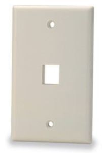 Signamax SKFL-1-WH 1-Port Single-Gang Keystone Faceplate with Labeling Windows, White