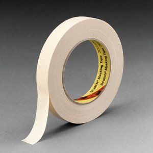 3M 232-18MMX55M High Performance Masking Tape, Natural, 18mm x 55m