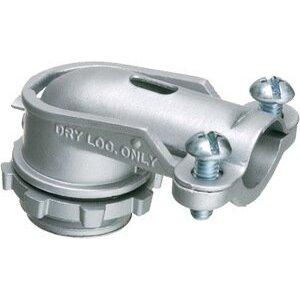 "Arlington 859 AC/Flex Connector, 3-1/2"", 90°, 2-Screw Clamp, Zinc Die Cast"