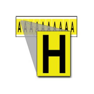 """Brady 1530-H Label,15 Series,1""""H,Bk/Yw,H,10/CD"""