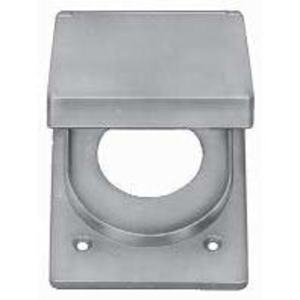 Thomas & Betts CFSR-XL Weatherproof Cover, 1-Gang, Type: Single Receptacle, Aluminum