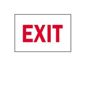 "Brady 22489 Sign, Exit, Not Illuminated, 7"" x 10"", Indoor/Outdoor"