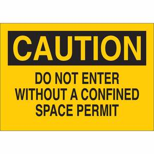 40628 CONFINED SPACE SIGN
