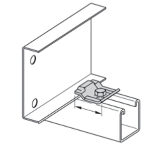 Eaton B-Line 9SS6-1205 Combination Hold Down / Expansion Guide Clamp, Stainless Steel