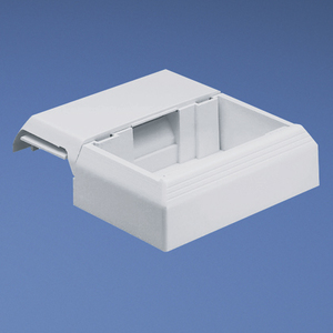 Panduit T45WC2IW T-45 Offset Box for Snap-on Faceplates