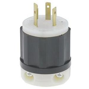 Leviton 2351 Locking Plug, 20A, 600VAC, 2P3W