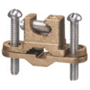 """Arlington 717DB Bare Wire Ground Clamp, Open Lug, 3/8 to 1"""", 10 to 2 AWG, Bronze"""