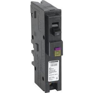 Square D HOM120PDF Breaker, Homeline, 20A, 120VAC, Dual Function