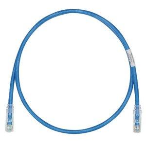 Panduit UTP28SP9BU Patch Cord, Category 6, UTP, RJ45, 28 AWG, Copper, Blue, 9'