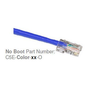 CP Technologies C5E-4P-BLUE-07 Patch Cord, CAT5e, 4-Pair, Blue, 7', With Boots