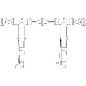 3M 5815-S Modular Tap Splice Kit, 2 AWG - 1000 MCM, 5 -25 kV, 600A