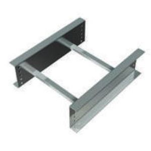 """Husky A9BB-9-144 Ladder Cable Tray, 9"""" Spacing, 9"""" Wide, 12' Long, Aluminum"""
