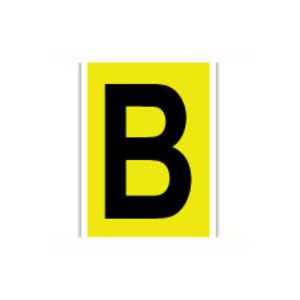 "Brady 1570-B Label,15 Series,6""H,Bk/Yw,B,1/CD"