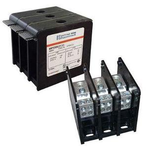 Mersen 69331 Power Distribution Block, Double Wide, Aluminum, (3) 2-600MCM, Line/Load *** Discontinued ***