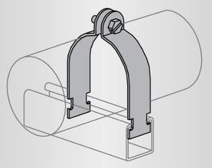 Power-Strut PS1200-4-1/2-EG 100 Pair O.d. Tubing Clamp