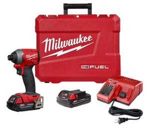 "Milwaukee 2853-22CT M18 FUEL™ 1/4"" Hex Impact Driver Kit"